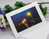 Boardwalk in Fog Photo card / Photo, Photography Greeting Card / A2 / Handmade Greeting Card