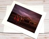 Siuslaw Dawn, Florence Oregon / Photo, Photography Greeting Card / A2 / Handmade Greeting Card