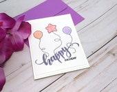 Happy Birthday / Birthday Greeting Card / A2 / Handmade Greeting Card