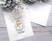 Seasons Greetings / Holiday, Christmas Greeting Card / A2 / Handmade Greeting Card
