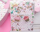 Happy Birthday Cards / Birthday, Friendship Greeting Card / A2 / Handmade Greeting Card