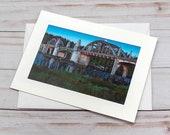 Siuslaw Bridge at Dawn / Photo, Photography Greeting Card / A2 / Handmade Greeting Card