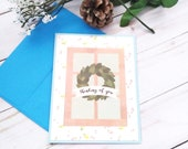 Thinking of You / Friendship Greeting Card / A2 / Handmade Greeting Card