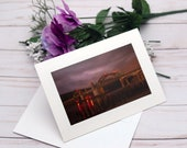 Siuslaw Dawn, Florence Oregon / Photo, Photography Greeting Card / A2 / Handmade Greeting Card