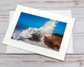 Monster Wave / Photo, Photography Greeting Card / A2 / Handmade Greeting Card