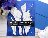 Will U Be Mine? / Valentine's Day / Love Greeting Card / A2 / Handmade Greeting Card