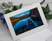 Mount Hood Photo card / Photo, Photography Greeting Card / A2 / Handmade Greeting Card