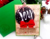 Merry Christmas to You and Yours / Holiday, Christmas Greeting Card / A2 / Handmade Greeting Card