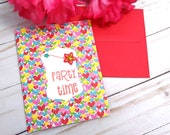 Party Time, Birthday Greeting Card / A2 / Handmade Greeting Card