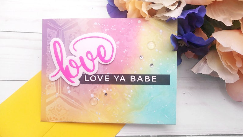 Love Cards / Valentine's Day / Love Greeting Card / A2 / Love Ya Babe