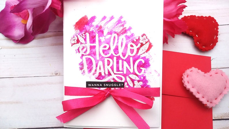 Hello Darling wanna snuggle / Valentine's Day / Love Design #1