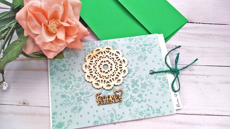 Forever Friends Slider Card / Friendship Greeting Card / A2 / image 0