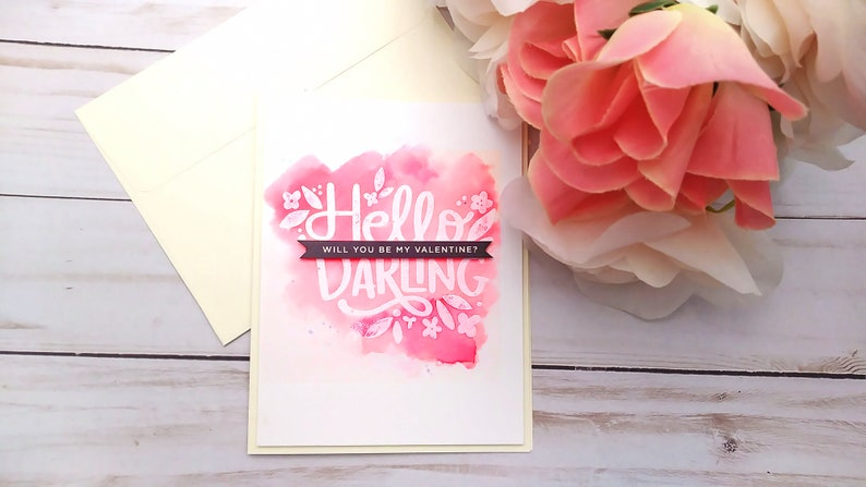 Hello Darling Cards / Valentine's Day / Love Greeting Card Be my valentine...
