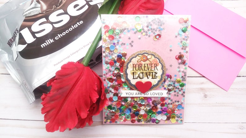 Forever Love / Valentine's Day / Love  Greeting Card / A2 image 0