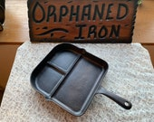 RARE D.E. Sandford Divided Breakfast Skillet