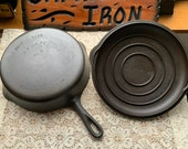 RARE Griswold s Best Made Sears Roebuck 8 Cast Iron Skillet with Matching Lid.