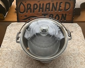 Unmarked Wagner Cast Iron Dutch Oven with Glass Basting Lid