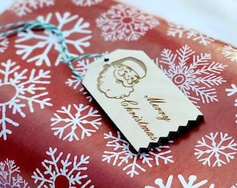 Personalized Santa Tags.  Christmas Present tags.  Holiday gifts tags. Christmas gifts. Engraved tags. Gift tags. Personalized Presents.