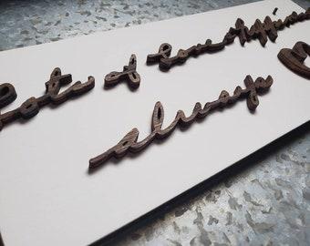 Custom Laser Cut Handwriting Signs.  Loved ones handwriting keepsake. 3D Personalized signs, gift