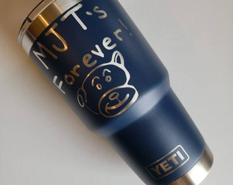 Engraved YETI Tumblers. Etched Handwriting Cups. Custom Name YETI Ramblers. Handwriting gifts. Engraved cups. Yeti Rambler Bottles. Custom
