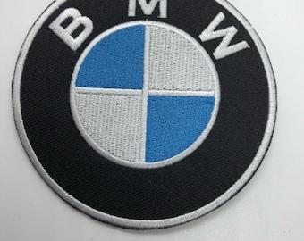 Iron on w// Rondel BMW Motorcycle Patch Black Motorbikes Bikers