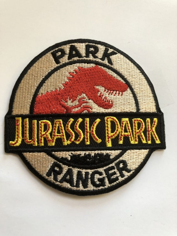 Sew On Large Jurassic Park Ranger  Embroidered Logo Patch Badge Iron On