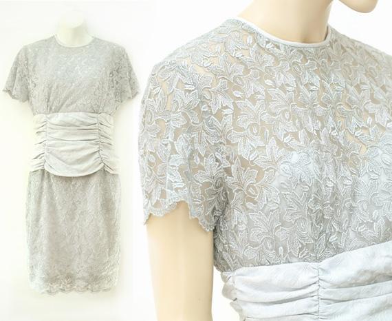 Vintage 80s lace dress