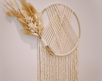 Woven Macramé Hoop with Dried Florals
