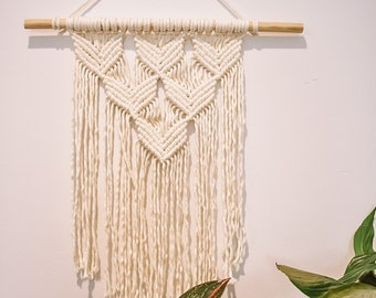 Whale Tail Macramé Wall Hanging