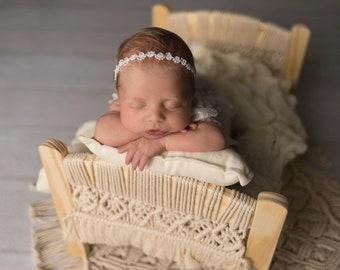 Newborn Photo Prop + Keepsake | Boho Baby Doll Bed