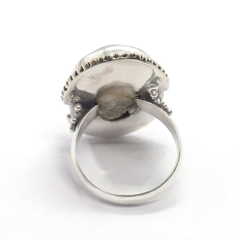 Sterling Silver Rutile Jewelry Golden Rutile Ring Handmade Ring Solid Silver ring Christmas Gift Jewelry