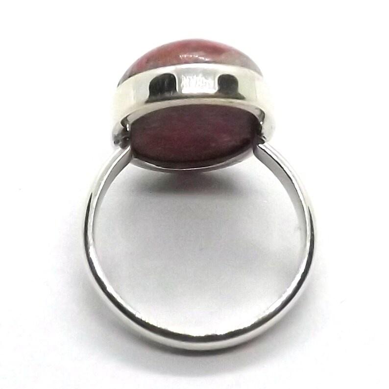 Artisan collection Thulite sterling Silver Jewelry Thulite solid silver Ring Awesome Jewelry Ring size 6 thru 09