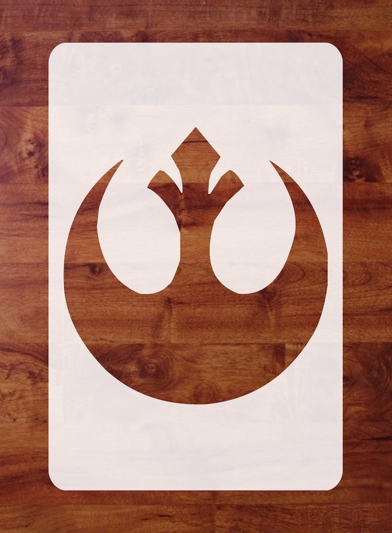 Mylar Star Wars Stencil Marek Crest Rebel Alliance Alliance image 0