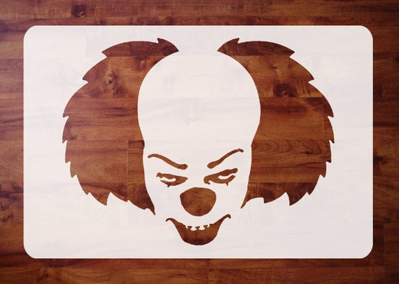 Mylar Halloween Stencil Pennywise The Clown It 1990 For Etsy
