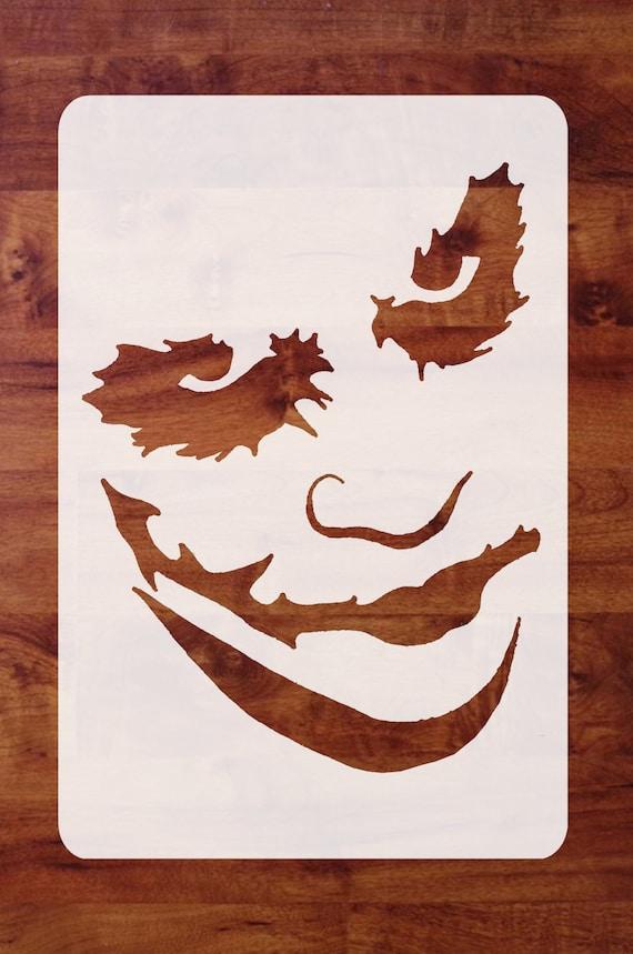 Mylar Halloween Stencil Joker Of Batman Dark Knight For Etsy
