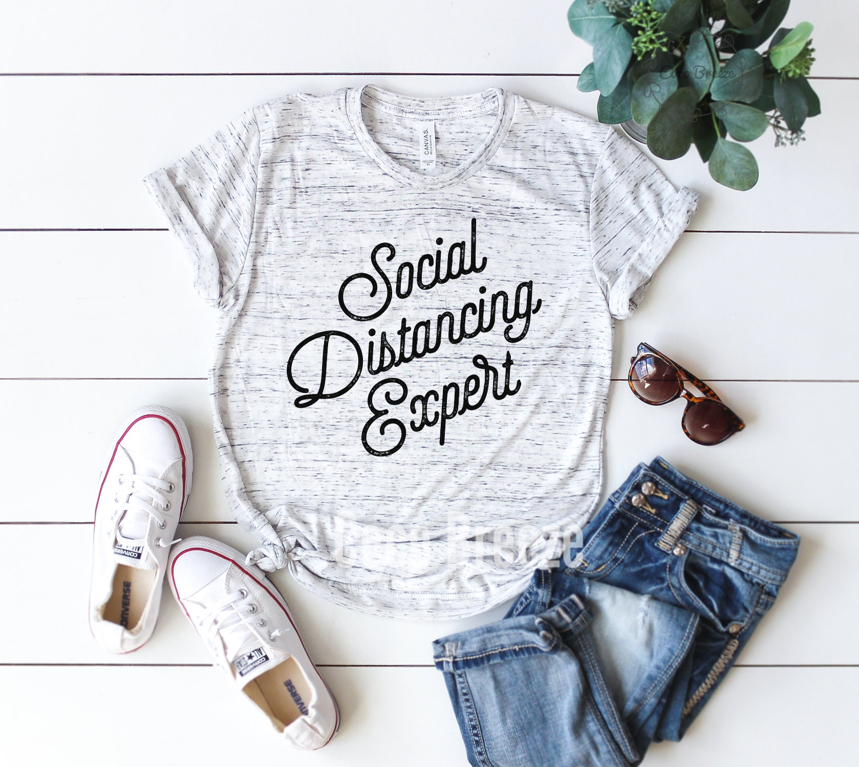Best quarantined mom shirts from etsy - Social Distancing Expert T-shirt