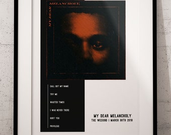 """The Weeknd My Dear Melancholy poster wall art home decor photo print 24x 24/"""" in"""