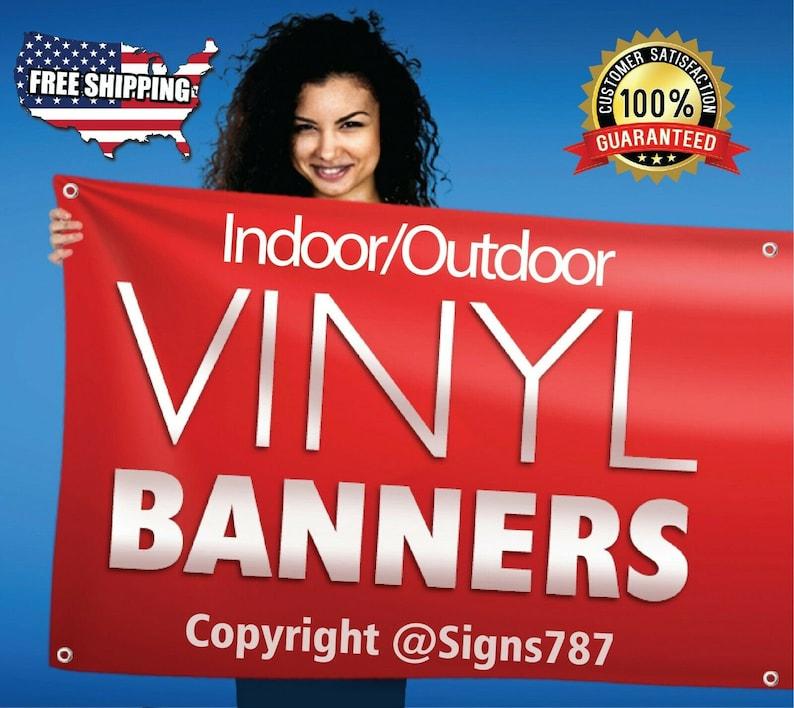 2/' x 8/'  Full Color Custom Banner High Quality Vinyl