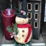 Old Snow, Snowman, Primitive Snowman, Vintage