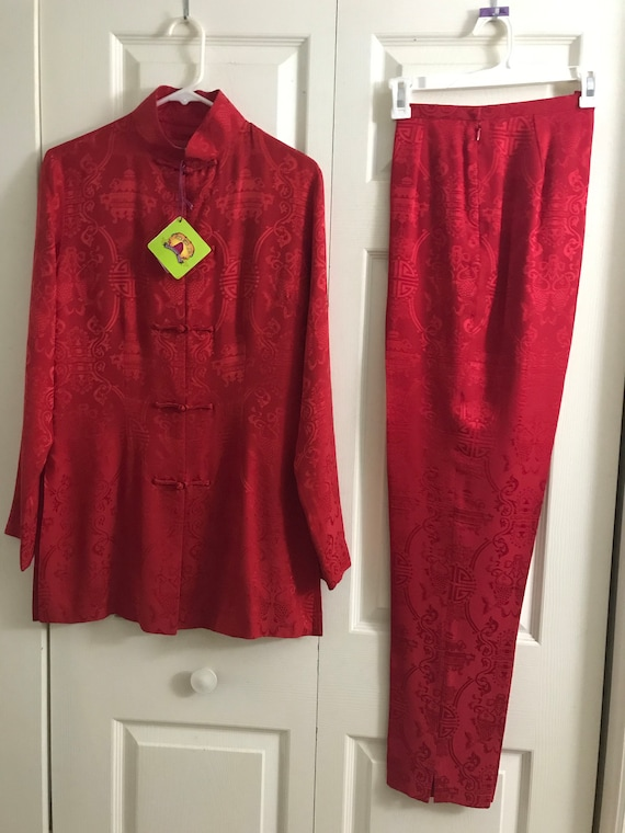 Shanghai Tang Silk Pajama Set New Perfect Conditio