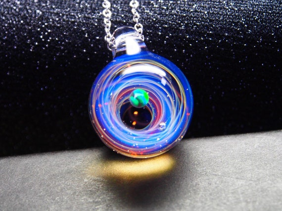 On sale!Beautiful planet star,Galaxy glass pendant,galaxy marble pendant,galaxy pendant necklace,glass marble,universe galaxy,space glass