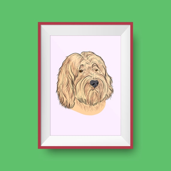 Pet Portrait - Custom Illustration - Personalised Pet Memorial - Pet Gift - Illustrated Pet - Colorful Pet Dog Cat - Gifts for Pet Owners