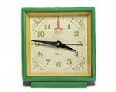 Vintage Sevani alarm clock WORKING Soviet Olympic wind up clock Mechanical alarm table clock Collectible gift desktop alarm USSR
