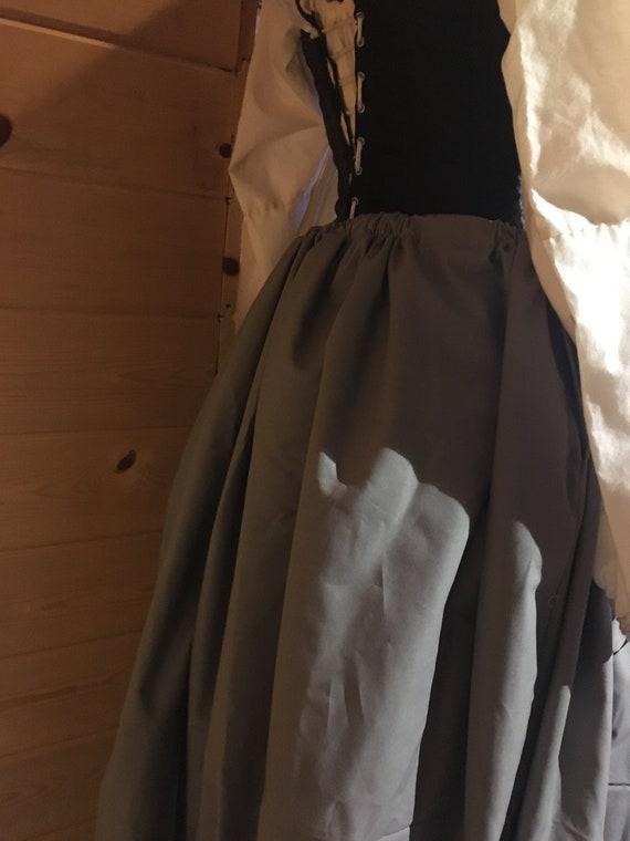Cotton 18th century colonial drawstring petticoat