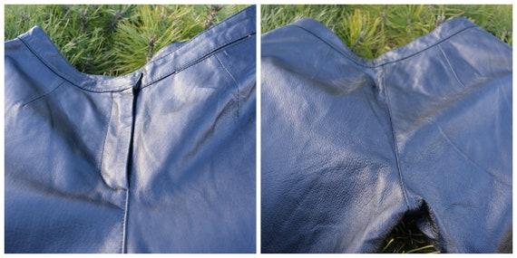 Vintage Leather Pants, Black Leather Pants size L - image 8