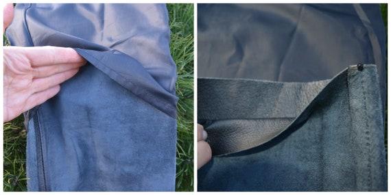 Vintage Leather Pants, Black Leather Pants size L - image 6