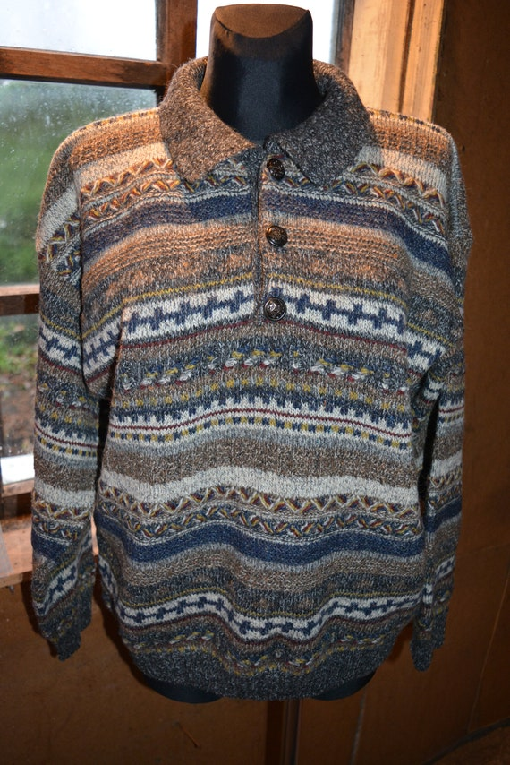 Vintage lana/acrylic/alpaca sweater