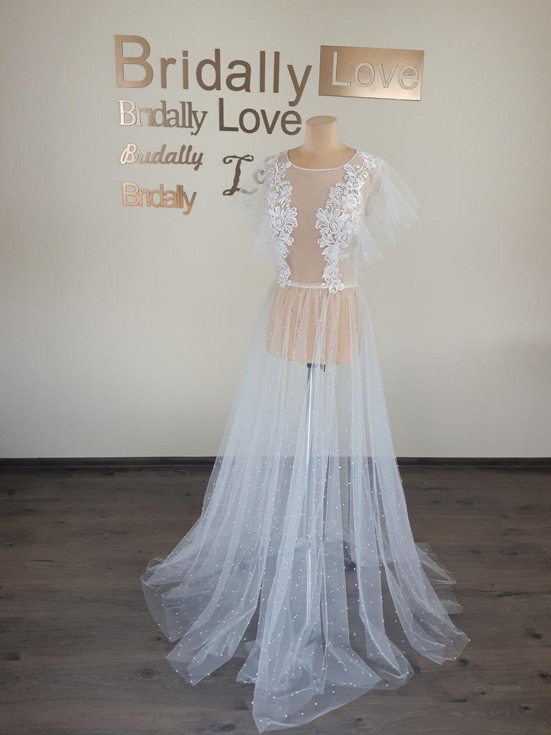 Luxury boudoir dress Luxury maternity dress Boudoir dress for bride bride boudoir dress lace boudoir gown Getting ready dress