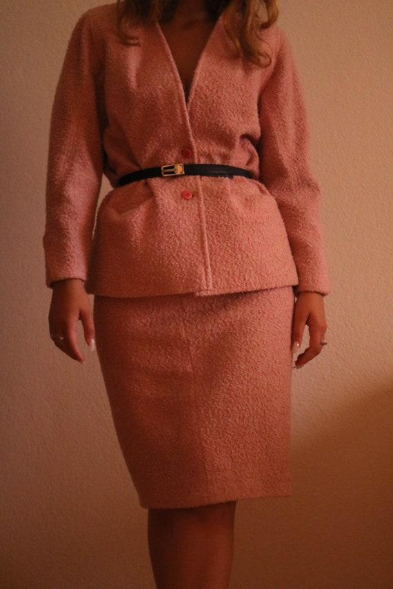 Vintage Handmade Light Pink Suit