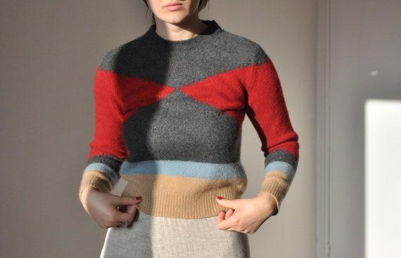 Valentino cashmere color block sweater